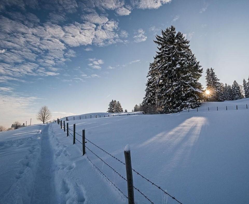 Winter in Roßhaupten